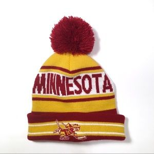 Minnesota Gopher Hockey Puff Ball Beanie
